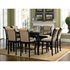 counter height dining chairs with arms daze infini furnishings 9 piece set reviews wayfair home ideas