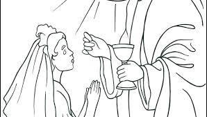 Eucharist Coloring Pages Coloring Pages Holy Communion Lords Supper