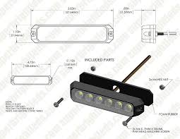 two color vehicle led mini strobe light head built in controller 18 watt vehicle mini strobe two color light head