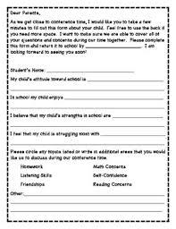 School Survey Questions For Parents Parent Teacher Conference Survey By Kristine Schellenger Tpt