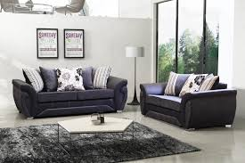 las vegas sofa collection in black grey fabric