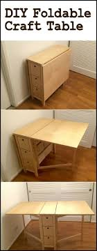furniture that saves space. create your own spacesaving craft station by building this diy foldable table furniture that saves space