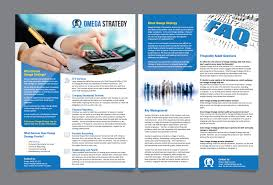 Professional Serious Accounting Flyer Design For Omega Strategy By