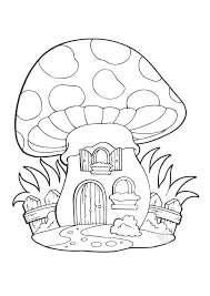 La Casa Fungo Da Colorare Bimbi Sani E Belli Con Disegni Da Colorare