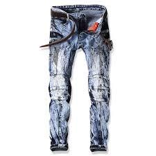 2019 2018 <b>Jeans</b> Hole <b>Fake</b> Zipper <b>Spliced Denim</b> Male Ripped ...