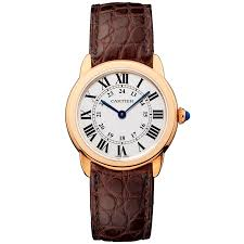 cartier cartier ronde solo de cartier small 18ct pink gold strap watch