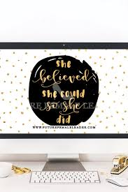 She Believed She Could So She Did Computerlaptop Wallpaper