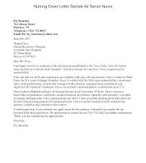 Cover Letter Examples Rn Cover Letters And Resumes Student Cover