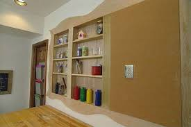 charming recessed shelf how to put in a wall d i y project between stud bathroom for