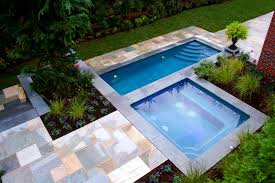 small pool shed. Swimming Pool:Alluring L Shape Pool Designs For Small Backyard With Modern Tile Texture Also Shed