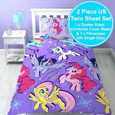 my little pony sheet set my little pony bed official single duvet cover set reversible