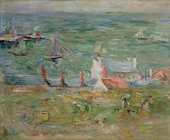 the painting the port of gorey on jersey by berthe morisot