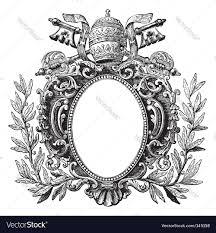 antique picture frames vector. Antique Frame Engraving Vector Image Picture Frames M
