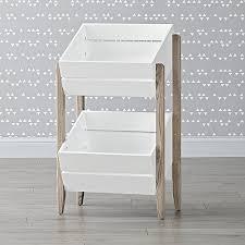 furniture toy storage. wrightwood grey stain u0026 white toy storage crates furniture