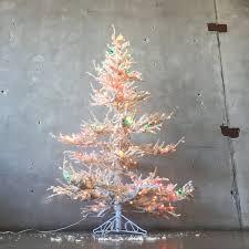 Vintage White Christmas Tree Lights Vintage Flocked White Christmas Tree With Lights
