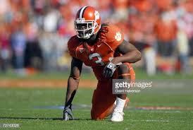 Duane Coleman of the Clemson Tigers kneels on the field during the... News  Photo - Getty Images