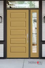 panel painted fiberglass exterior door