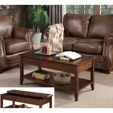 convenience concepts american heritage flip top coffee table in espresso hover to zoom