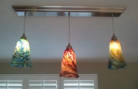 61 most terrific photo combination three model glass pendant light shades blue red yellow fire pattern