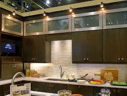 kitchen track lighting cabinet