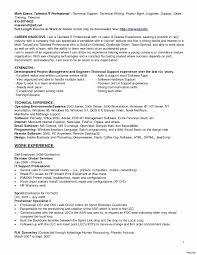 Support Technician Resume Desktop Support Technician Resume Plus Radio Info