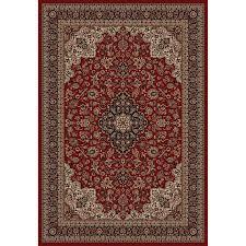 Style Selections Daltorio Red Rectangular Indoor Oriental Area Rug (Common:  8 x 10;