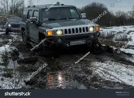 Hummer H3 Off Road Lights Leningrad Region River Tosno Russia March Stock Photo Edit