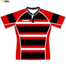black striped rugby shirt