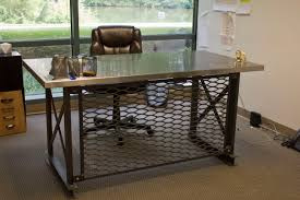 buy a hand made the mitica desk  stainless steel made to order