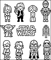 Small Picture Star Wars Coloring Pages Printable Yoda Color Zini