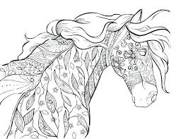Lovely Horse Coloring Book Pages And Horses Coloring Pages Free