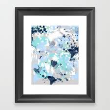 silva abstract painting large canvas art print for modern decor cool blue relaxing design urban