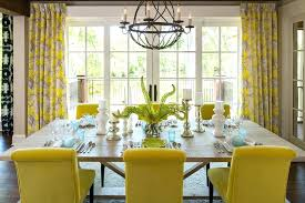 Dining Room Curtains Modern Dining Room Curtains Yellow And Grey Curtains  Dining Room Transitional With Blue