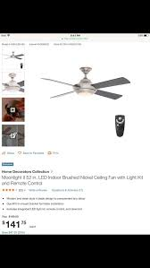 home decorators collection moonlight ii led 52 in brushed nickel ceiling fan 119 for in dallas tx offerup