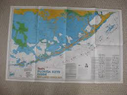 Key Largo Chart Antique 1987 Key Largo Conch West Keys Florida Maritime