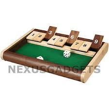 Wooden Box Board Games Buy Shut the Box Board Game Set Wood Wooden 100 Number Drinking 69