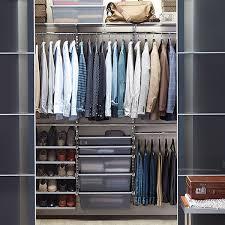 how to install a closet rod platinum elfa reach in closet how to hang a closet