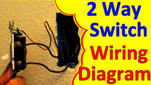 2 way light switch wiring wiagrams (how to wire install) youtube 2 way wiring diagram in singles at 2 Way Wiring Diagram