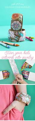 DIY Mother's Day Bracelets using Coloring Pages