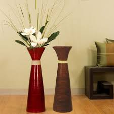 ... Unique Shape Decorative Floor Vases Perfect Sample Red Glossy  Decoration Room Flower White Color Stand Out ...