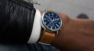 timex men s weekender tan leather strap ogwatch