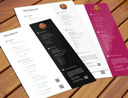 Photoshop Resume Template Psd Cv Free Download Word Resumes