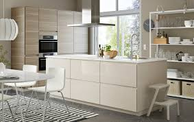 ikea lighting kitchen. A Large Kitchen / Diner In Light Beige And Walnut With Island Open Ikea Lighting T