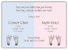Boy Girl Twins Birth Announcements
