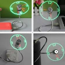 Mini Flexible Led Light Us 7 05 17 Off Centechia Durable Adjustable Usb Gadget Mini Flexible Led Light Usb Fan Time Clock Desk Clock Cool Gadget Time Display In Usb Gadgets