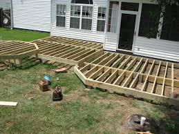 wealth free standing deck plans ground level low elevation 8x8 packages 10x10