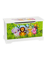 jungle animals wooden toy box zoom
