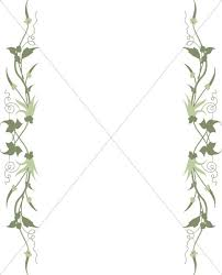 Trailing Ivy Page Sides | Leaf Borders