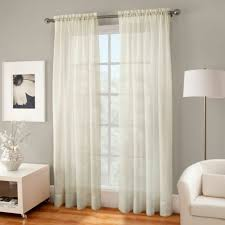 Single window curtain One Panel Crushed Voile Sheer 108inch Rod Pocket Single Window Curtain Panel In Ivory Ebay Crushed Voile Sheer 108