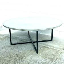 concrete top round pedestal table outdoor coffee furniture sealer lightweight